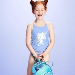 Girls' Unicorn Tankini Swimsuit Set - More Than Magic™ Purple
