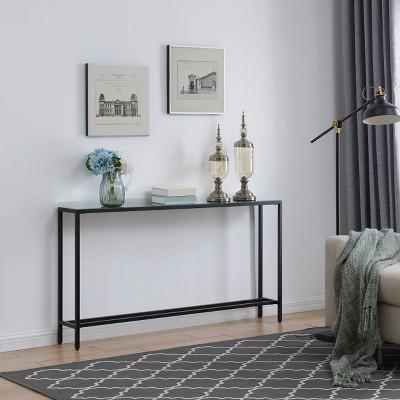 Dillard Narrow Long Console Table Black - Aiden Lane : Target
