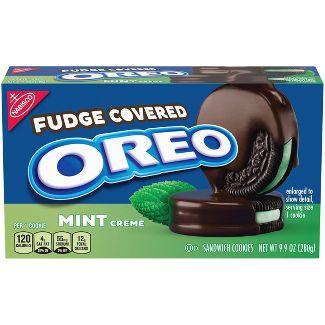 Oreo Mint Fudge Covered Sandwich Cookies - 9.9oz