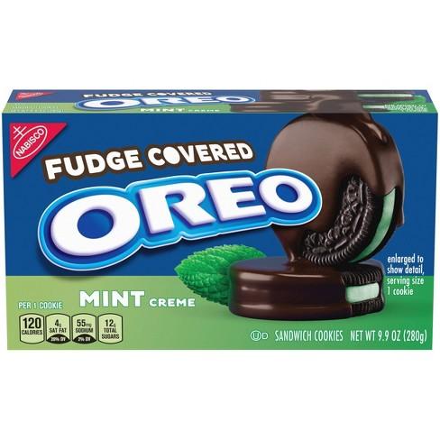 Oreo Mint Fudge Covered Sandwich Cookies - 9.9oz : Target