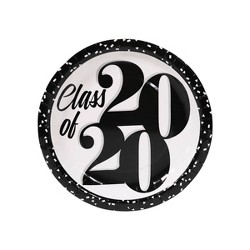 "20ct ""Class of 2020"" Graduation Dinner Plate Black/White - Spritz™"
