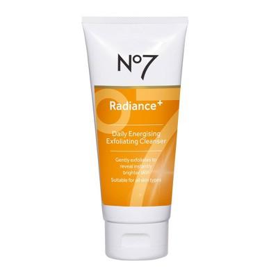 No7 Radiance+ Daily Energizing Exfoliating Cleanser - 3.3 fl oz
