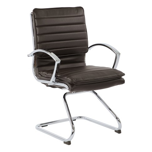 Guest Faux Leather Chair With Chrome Base - OSP Designs - image 1 of 4