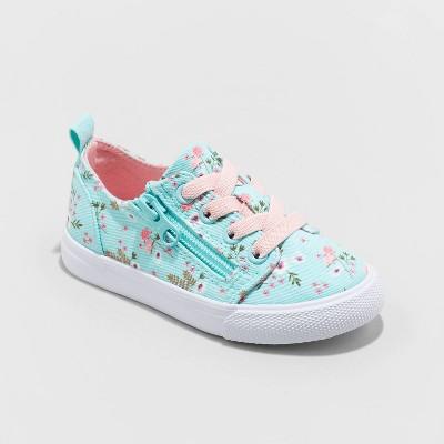 Toddler Luka Floral Print Double Zipper Apparel Sneakers - Cat & Jack™ Mint 5