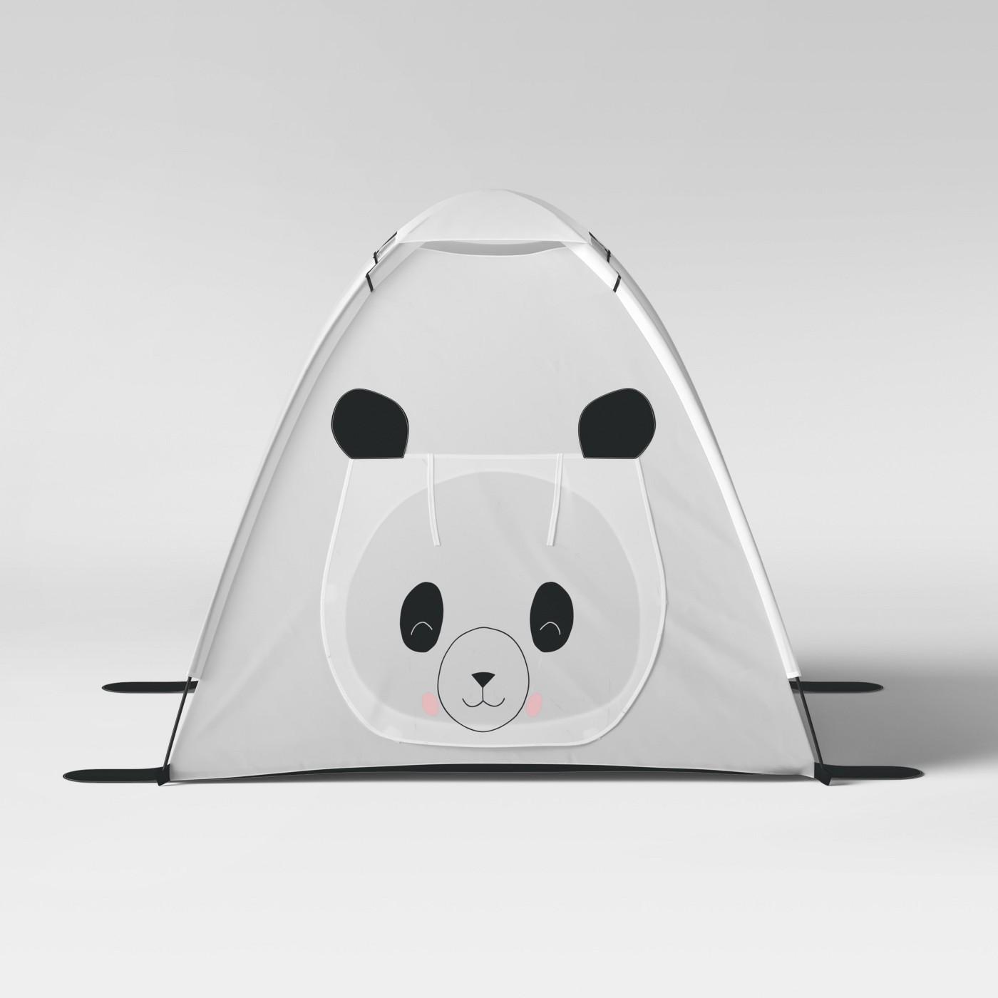 Panda Bear Play Tent - White - Pillowfort™ - image 1 of 4