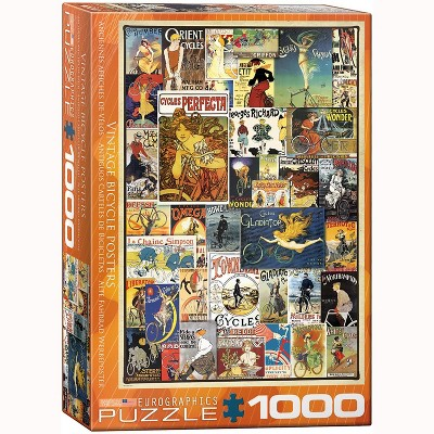 Eurographics Inc. Vintage Bicycles Ads 1000 Piece Jigsaw Puzzle