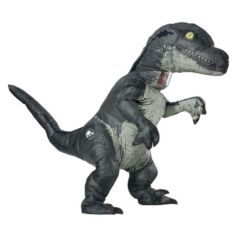 Adult Jurassic World Fallen Kingdom Velociraptor Inflatable Halloween Costume - image 1 of 1