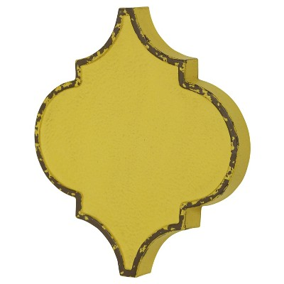 Metal Quatrefoil Wall Decor Yellow - StyleCraft