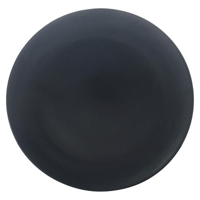 10 Strawberry Street Matte Wave Stoneware Dinner Plates 10.8  Black - Set of 6
