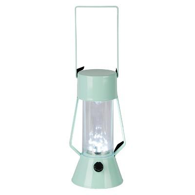 LED Outdoor Metal Lantern - Light Blue - Room Essentials™