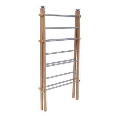 INNOKA Wooden Clothes Drying Rack, Folding Towel Ladder Stand for Laundry, Bathroom, Indoor, Foldable, 22 x 27 x 42 in.