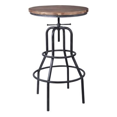 Titan Industrial Adjustable Bar Height Pub Table Gray - Armen Living