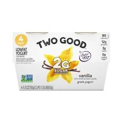 Dannon Two Good Vanilla Yogurt - 4pk/21.2oz