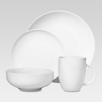 Porcelain 16pc Coupe Dinnerware Set White - Threshold™