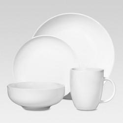 Porcelain 16pc Coupe Dinnerware Set White - Threshold™