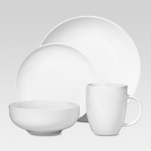 Porcelain 16pc Coupe Dinnerware Set White - Threshold™ - image 1 of 4