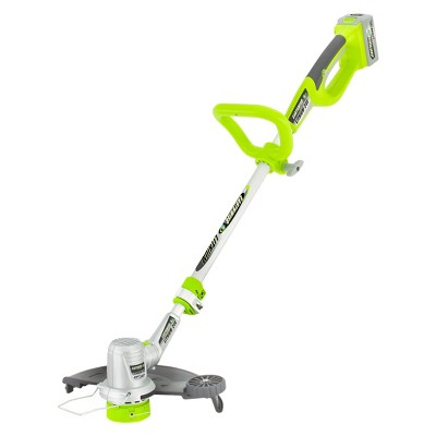 24 Volts, 60 Watts Cordless Lithium String Trimmer - Green - Earthwise