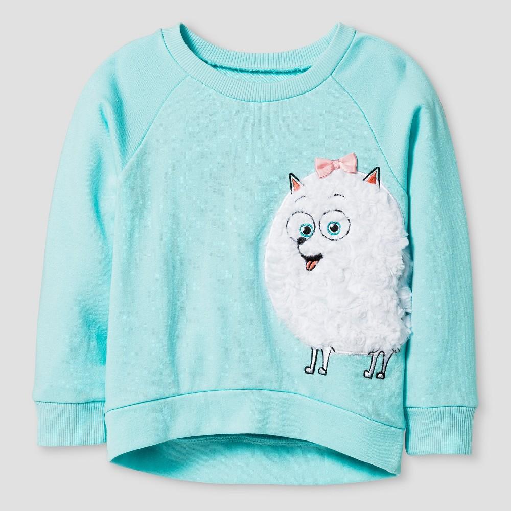 Secret Life of Pets Toddler Girls' Gidget Sweatshirt 2T - Turquoise Blue