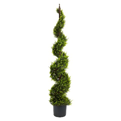 Nearly Natural 5' Cypress Spiral Tree
