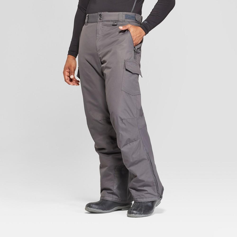 Mens Cargo Snow Pants Zermatt Charcoal Grey S