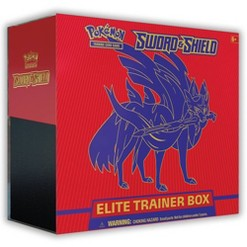 Pokemon Trading Card Game Sword & Shield S1 Elite Trainer Box featuring Zacian
