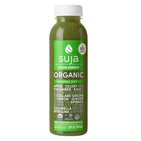 Suja Noon Greens Organic Fruit & Vegetable Juice Smoothie - 12 oz