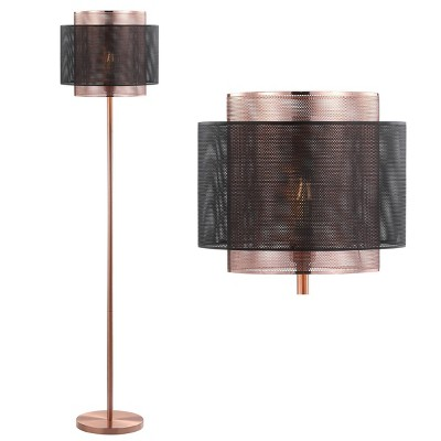 "60.5"" Metal Tribeca Floor Lamp (Includes Energy Efficient Light Bulb)Copper - JONATHAN Y"