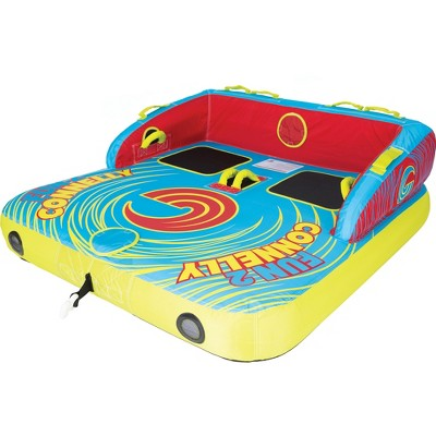 Connelly Fun 2 Person 2 Way 65x65 Inch Hybrid Inflatable Pull Behind Boat Towable Water Inner Tube