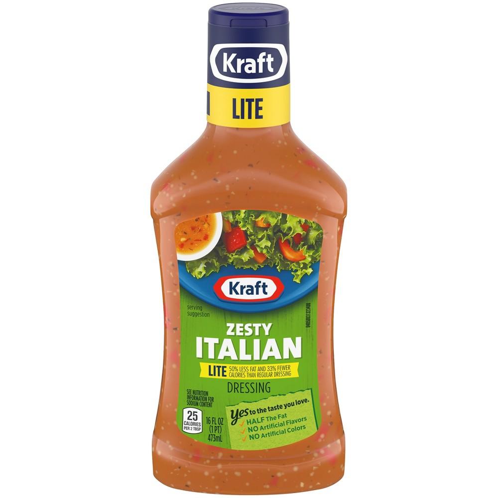 Kraft Lite Zesty Italian Salad Dressing 16 Fl Oz