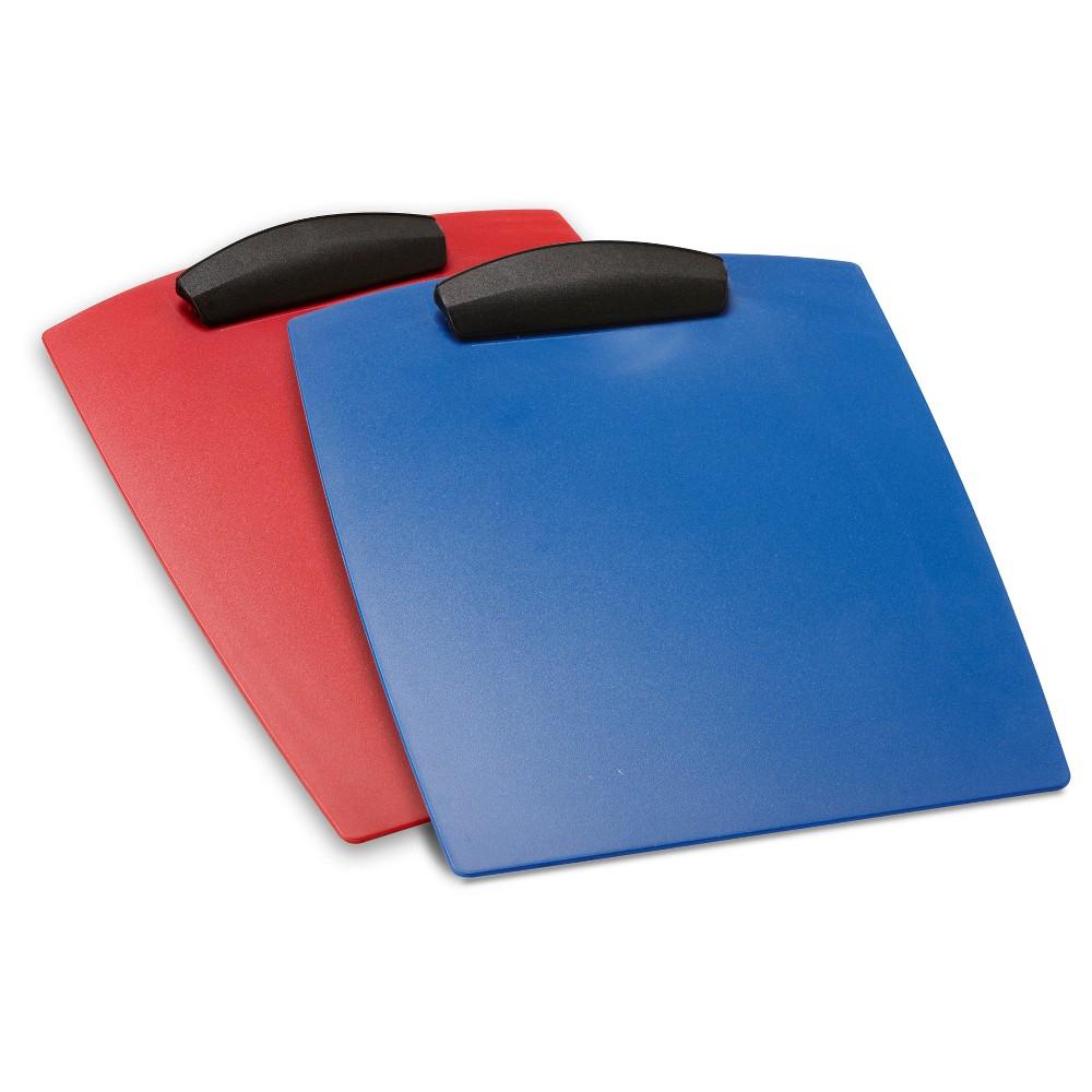 Storex Clip Board, 12ct - Red/Blue