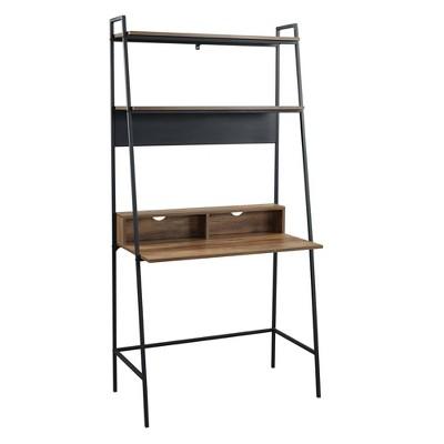 "36"" Sophia Open Concept Bookshelf Workstation - Saracina Home"