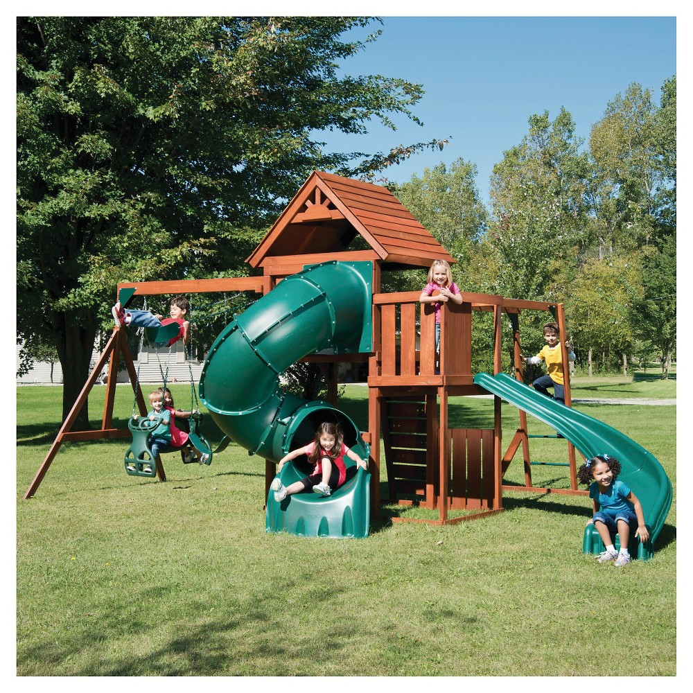 Swing-N-Slide Grandview Twist Wooden Play Set