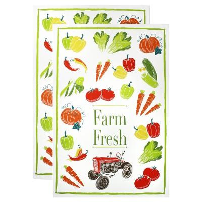 2pk Farm Fresh Print Kitchen Towels - MU Kitchen