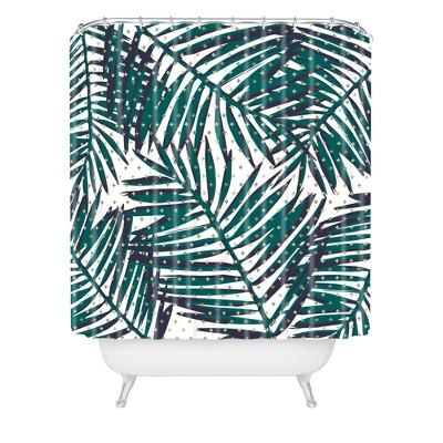 Zoe Wodarz The Palm Hotel Shower Curtain Green - Deny Designs