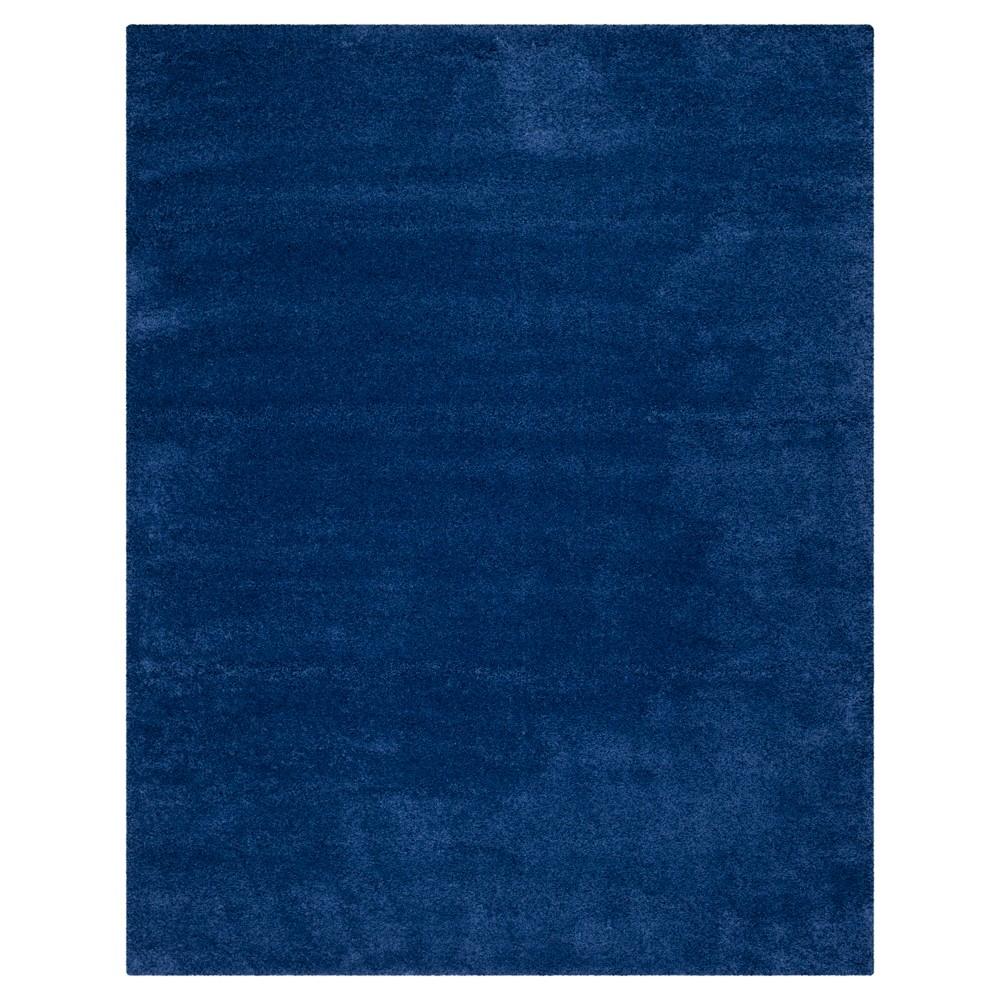 Navy (Blue) Solid Shag/Flokati Loomed Area Rug - (8'X10') - Safavieh