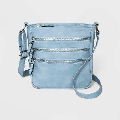 Bueno Soft Nubuck Pebble Crossbody Bag