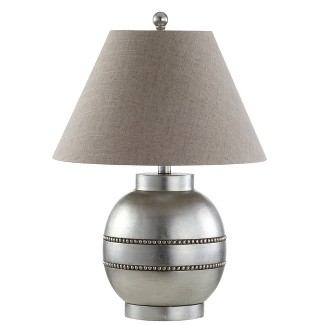 "24.5"" Zelda Resin LED Table Lamp Silver (Includes Energy Efficient Light Bulb) - JONATHAN Y"