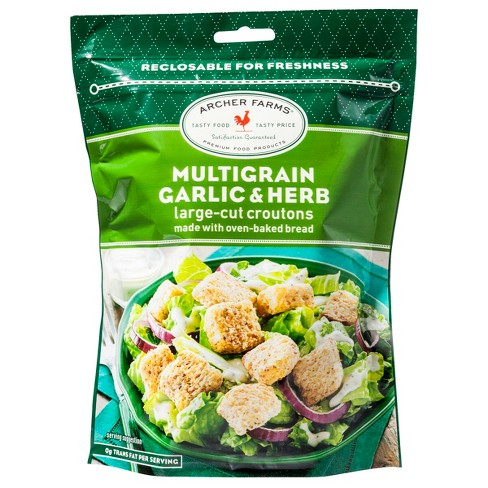 Multigrain Garlic & Herb Large Cut Croutons - 5oz - Archer Farms™ - image 1 of 1