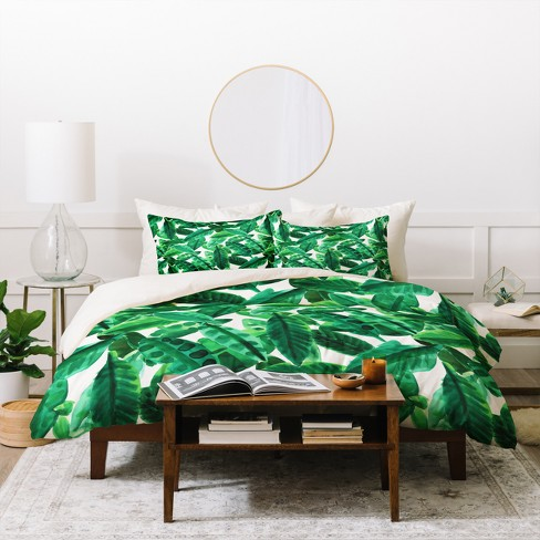 Palm Amy Sia Duvet Cover Set Green - Deny Designs - image 1 of 2