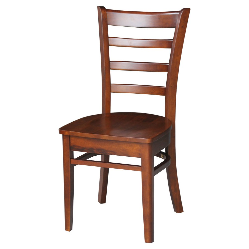 Emily Side Dining Chair - Espresso (Set of 2) - International Concepts, Brown