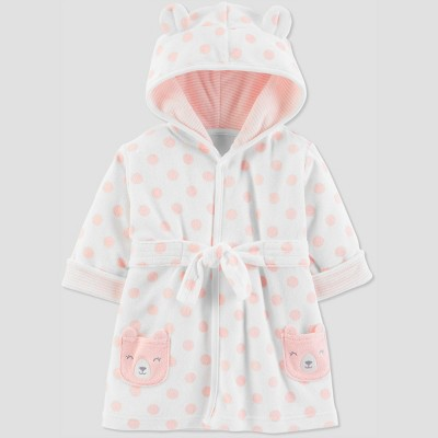 Baby Girls' Bear Bath Robe - Just One You® made by carter's Pink 0-9M