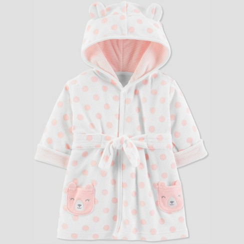 Baby Girls' Bear Bath Robe - Just One You® made by carter's Pink 0-9M - image 1 of 1