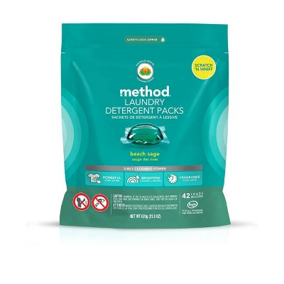 Method Beach Sage Laundry Detergent Packs - 42ct