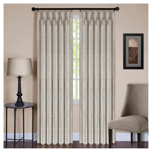 Parker Pinch Pleat Window Curtain Panel Achim