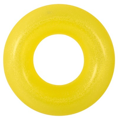 """Pool Central 35"""" Yellow Inflatable Inner Tube Pool Float"""