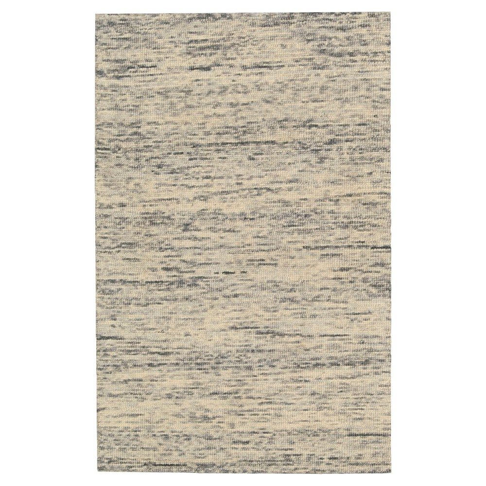 Nourison Solid Wool Sterling Accent Rug - Silver (4'X6')
