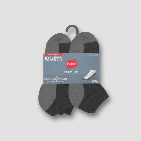 7aee26ca6ca3a Hanes Premium Men's 10pk Cool Comfort Low Cut Socks : Target