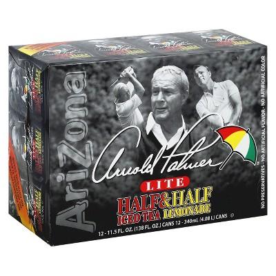 AriZona Arnold Palmer Lite Half Iced Tea & Half Lemonade - 12pk/11.5 fl oz Cans