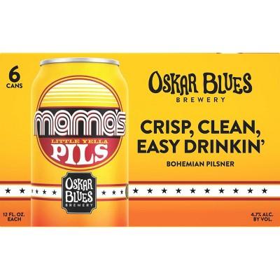 Oskar Blues Mama's Little Yella Pils Beer - 6pk/12 fl oz Cans