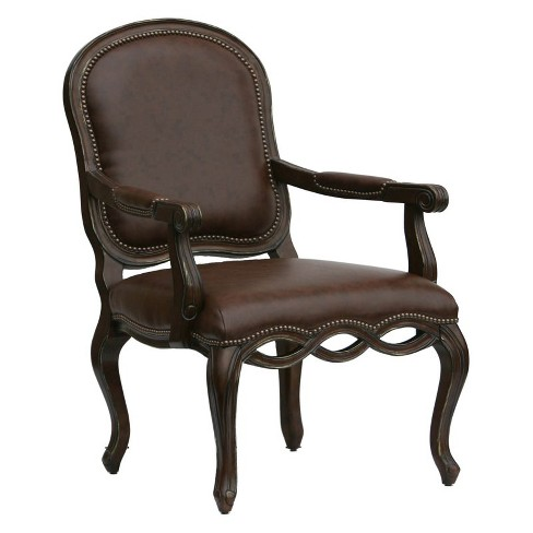 Oxford Leather Chair in Brown - Comfort Pointe  - image 1 of 4